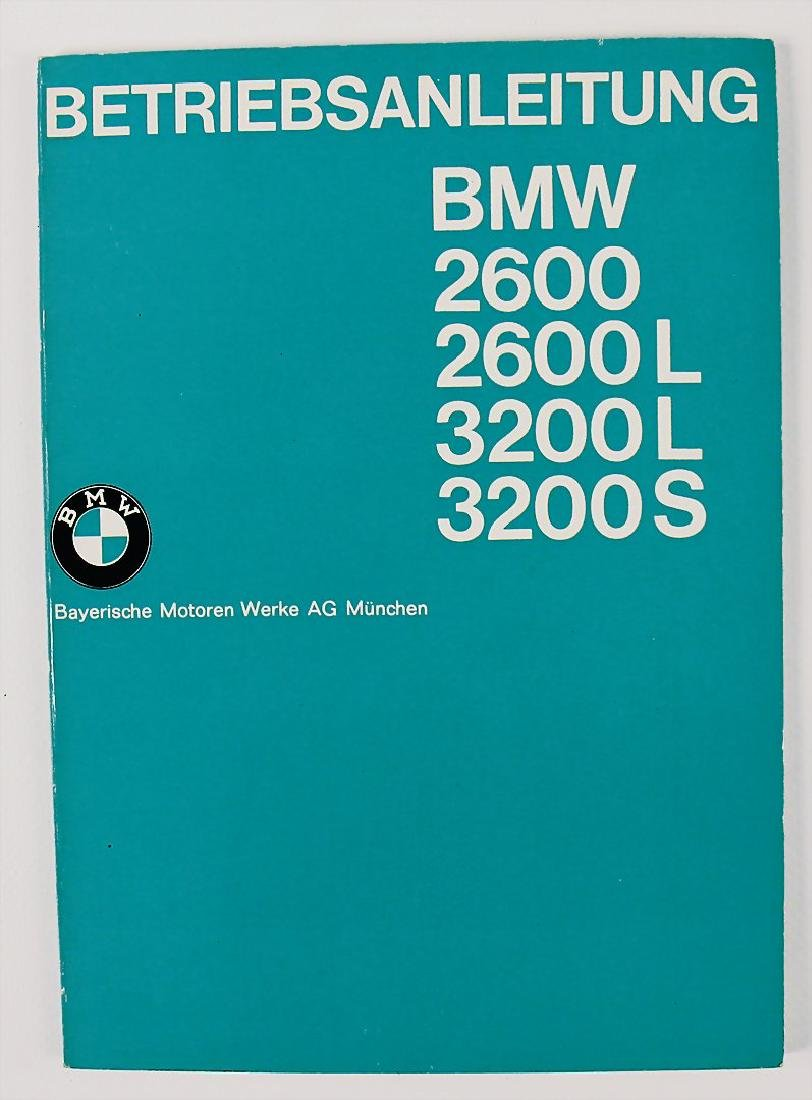 BMW operating instruction for BMW type