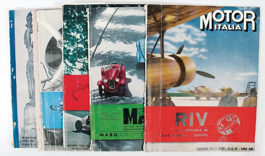 """magazine """"Motor Italia"""" mixed lot with 6 pieces, year"""
