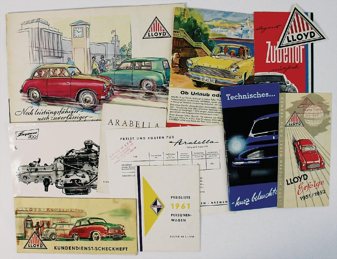LLOYD mixed lot with 11 pieces, among it brochure