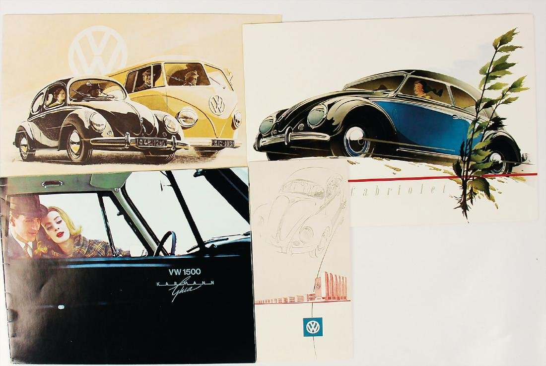 VOLKSWAGEN mixed lot of 4 pieces, among it sales