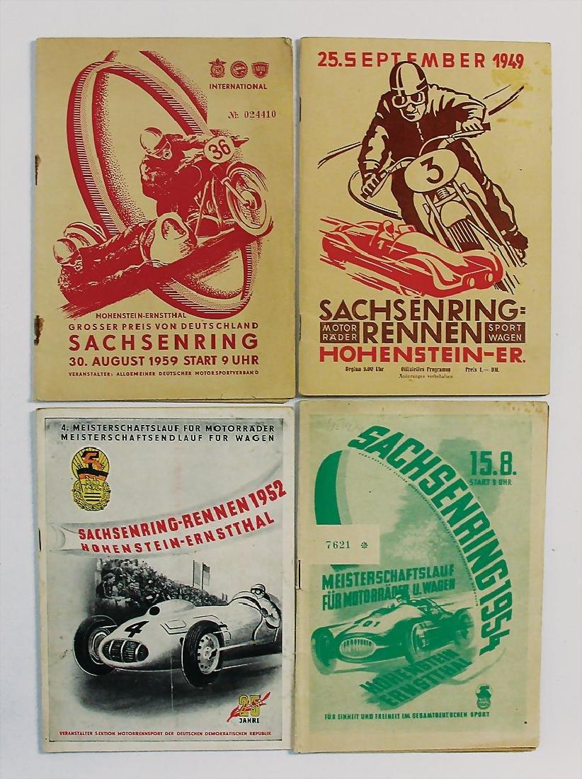 mixed lot of 4 programmes, among it Sachsenring race