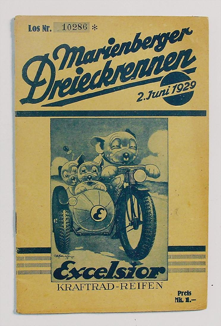 programme booklet Marienberger Dreieck race June 2nd