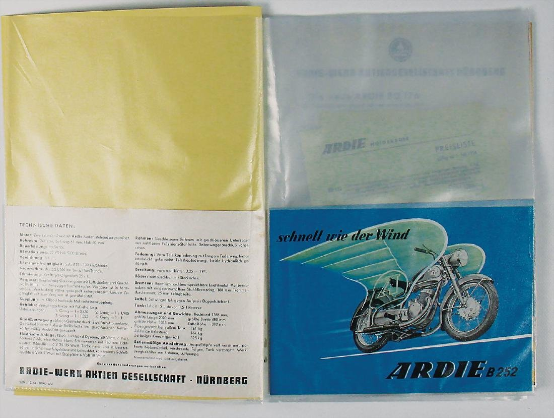 """ARDI mixed lot with 12 pieces, flyer """"Die neue Ardi BZ"""