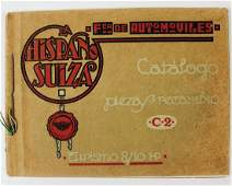 HISPANO SUIZA replacement parts catalog 1924 for 810
