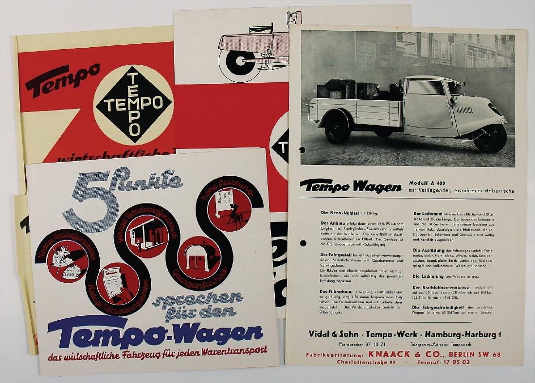 TEMPO mixed lot with 4 pieces, No. 1: brochure Tempo