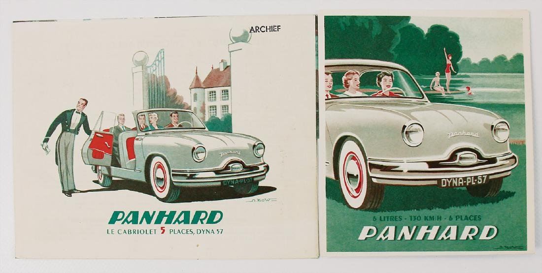 PANHARD mixed lot with 2 pieces, No. 1: fold-out