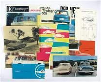 WARTBURG sales brochure Wartburg automobiles c. 1960,