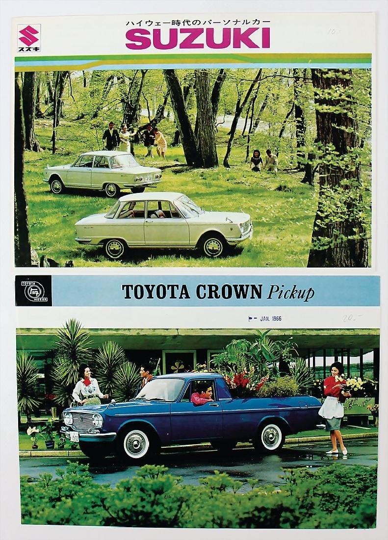 mixed lot of 2 sales brochures, No. 1 Toyota flyer