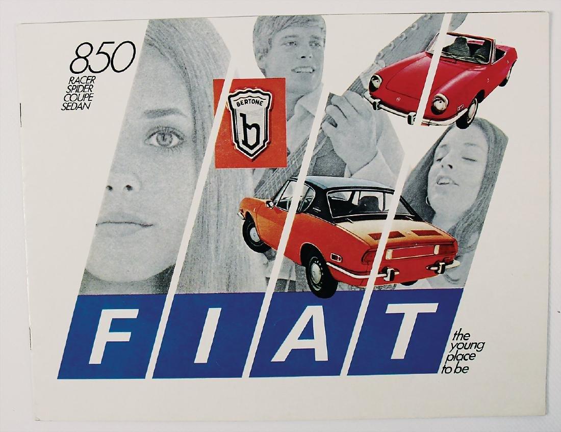 FIAT sales catalog Fiat 850 Bertone, 12 pages, English