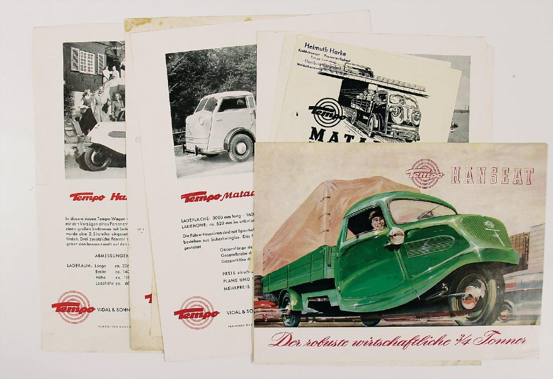 TEMPO mixed lot with 8 pieces, No. 1: sales brochure