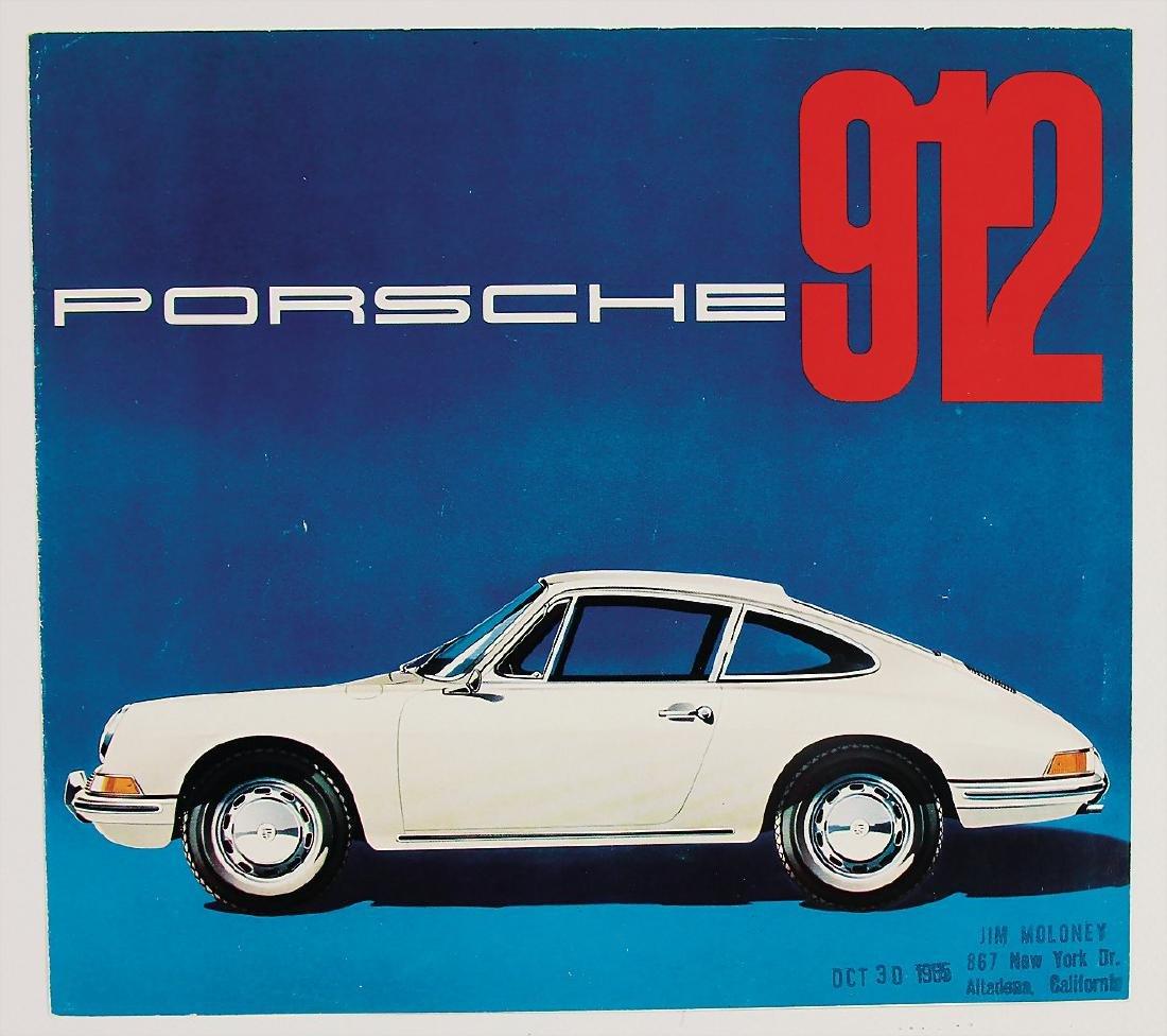 PORSCHE fold-out brochure Porsche type 912, 6 pages,