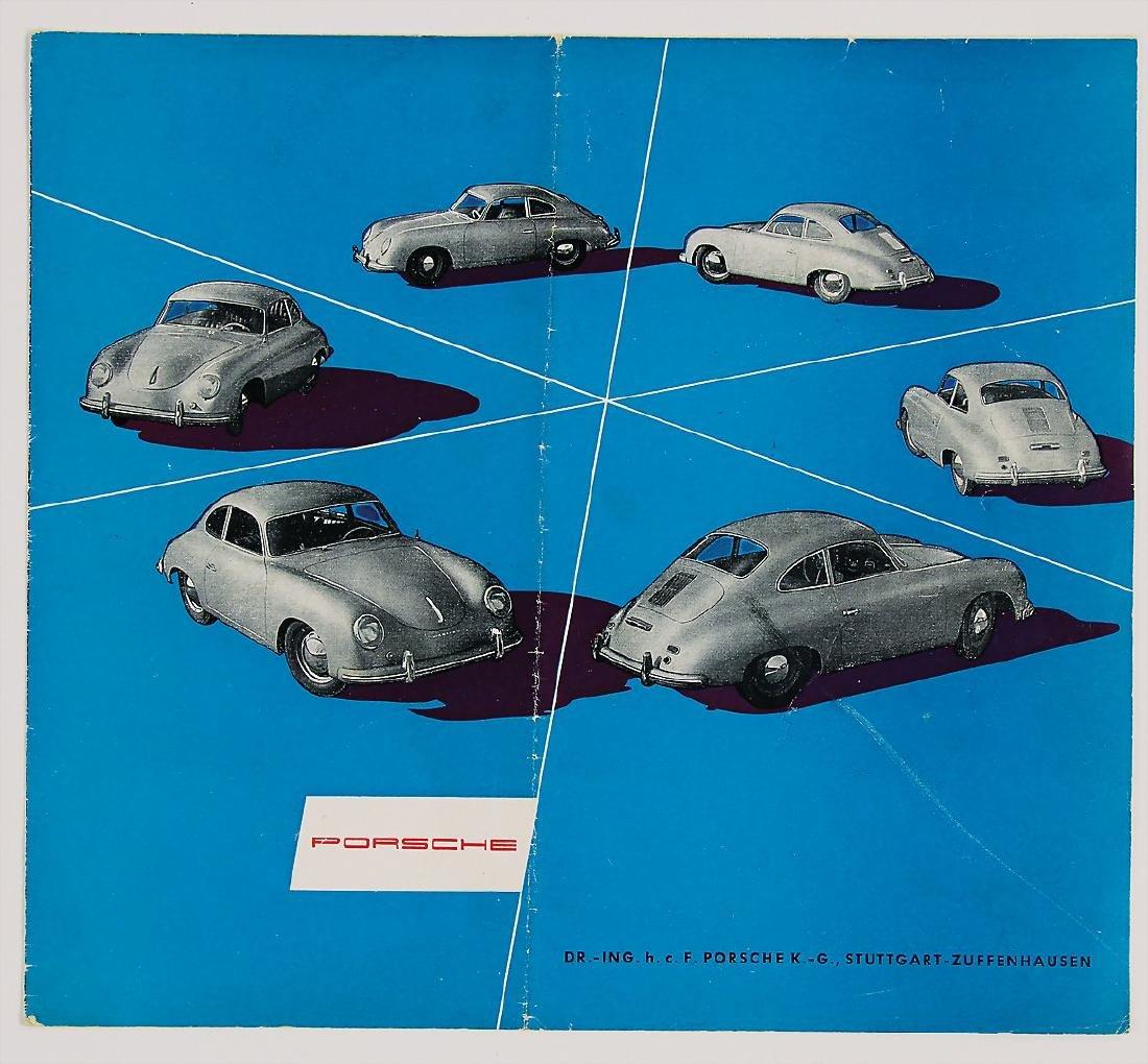 PORSCHE fold-out brochure Porsche type 356 A, 8 pages,
