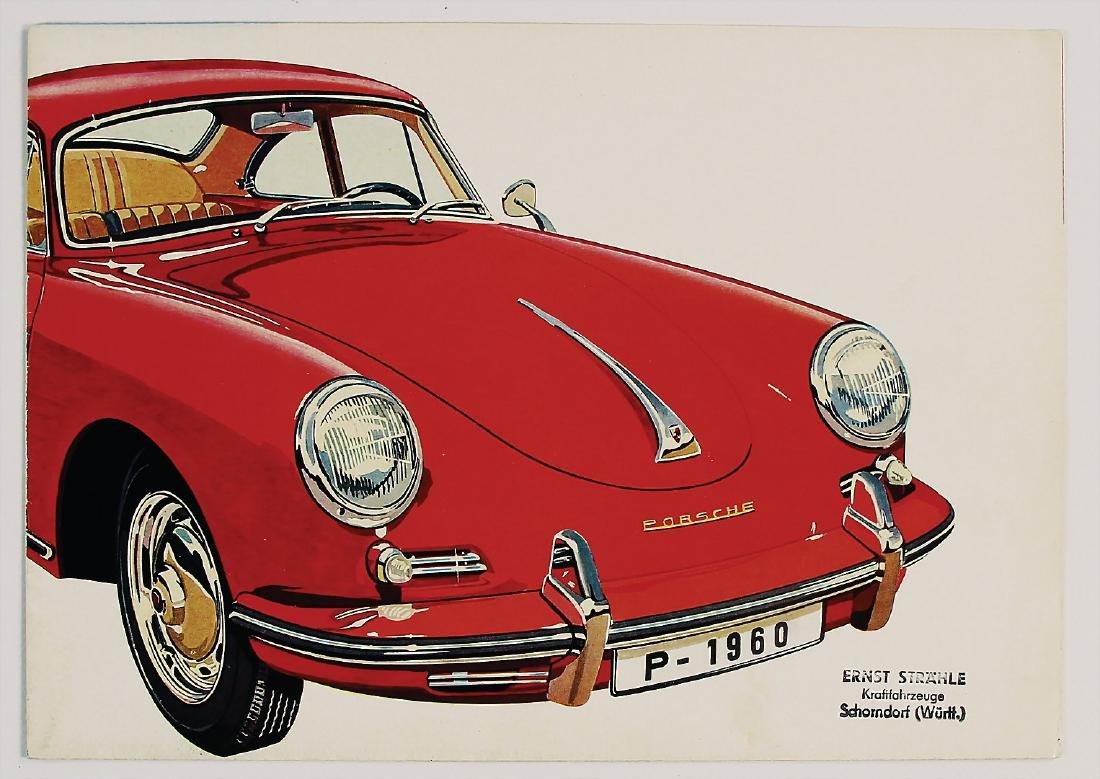 PORSCHE fold-out brochure Porsche type 356 B, 8 pages,