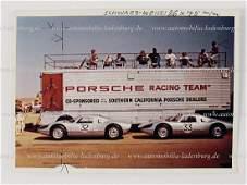 PORSCHE original color photo Porsche Racing Team