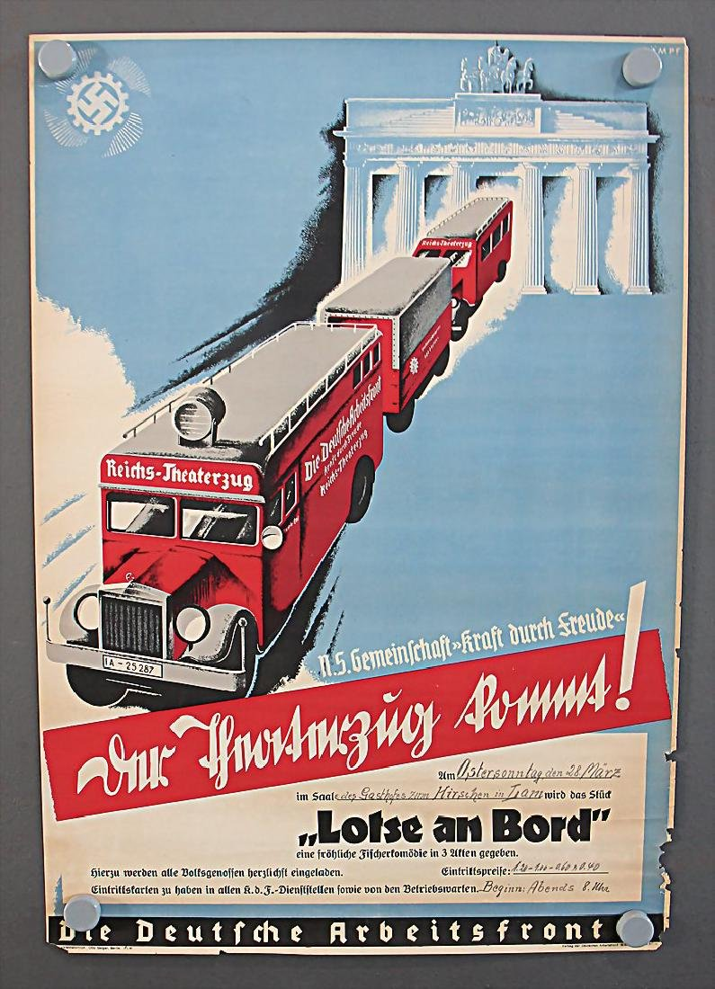 DEUTSCHE ARBEITSFRONT advertisement poster