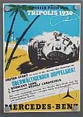 MERCEDES-BENZ racing poster Grand Prix of Tripoli 1939,