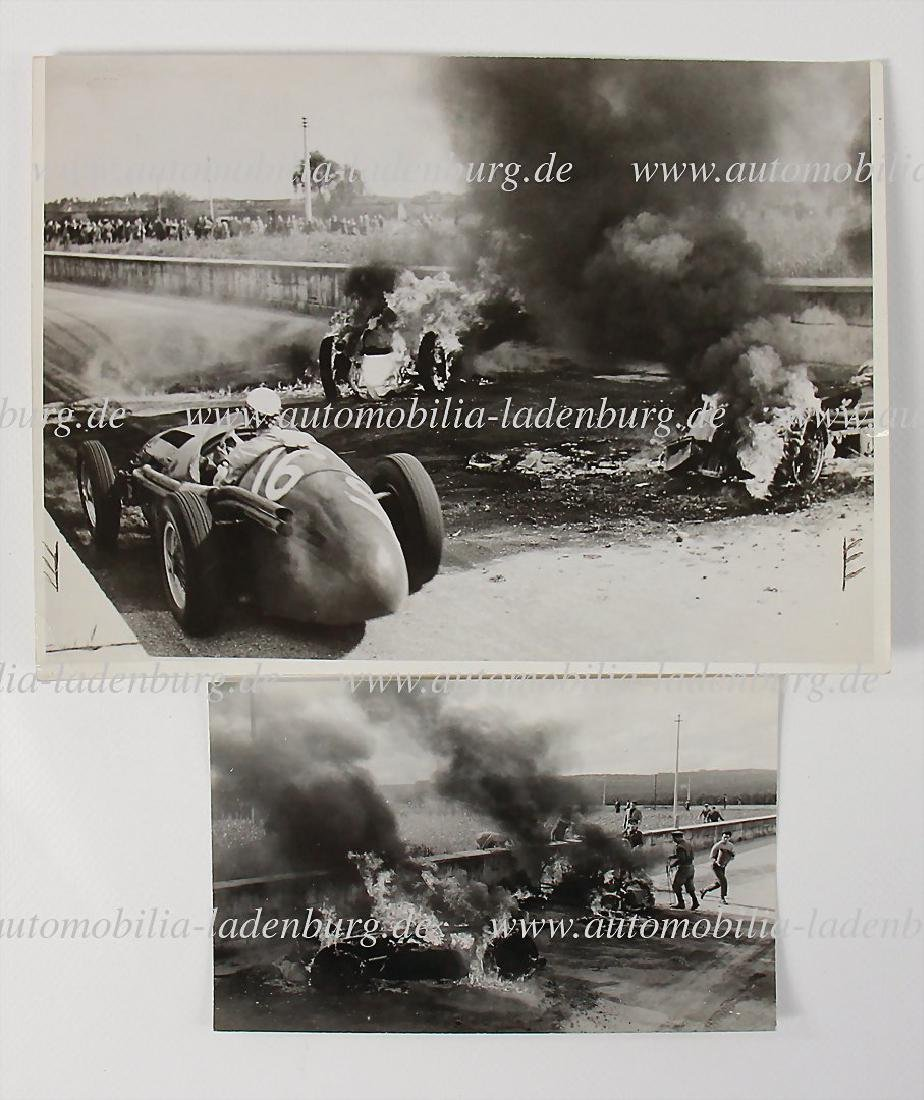 mixed lot of 2 original B/W photos Grand Prix Syracusa