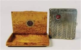 MERCEDES-BENZ und Benz & Cie 2 cigarette case, 1x wood