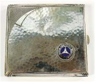 MERCEDES-BENZ cigarette case Art Deco, blue Mercedes