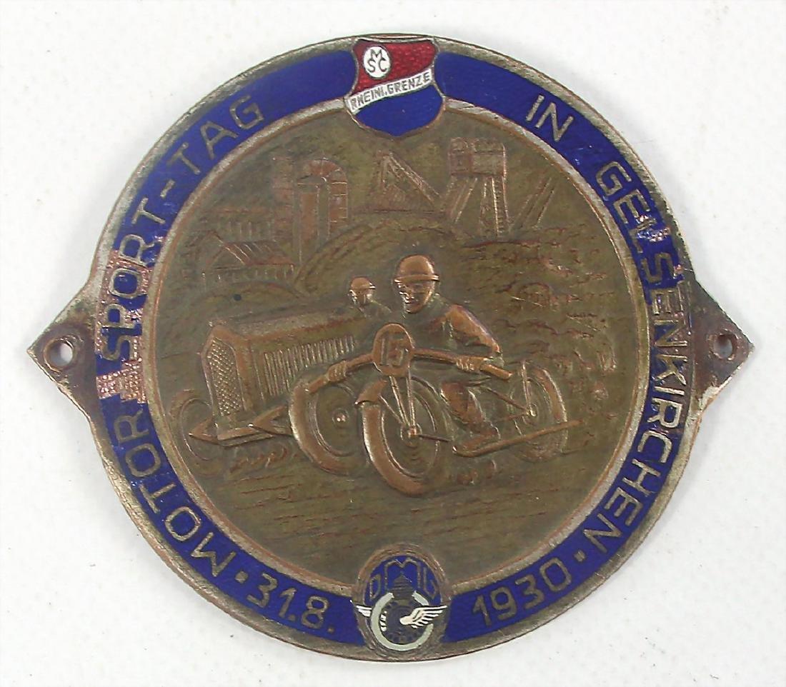 "badge ""Motor-Sport-Tag in Gelsenkirchen 1930"", badge"
