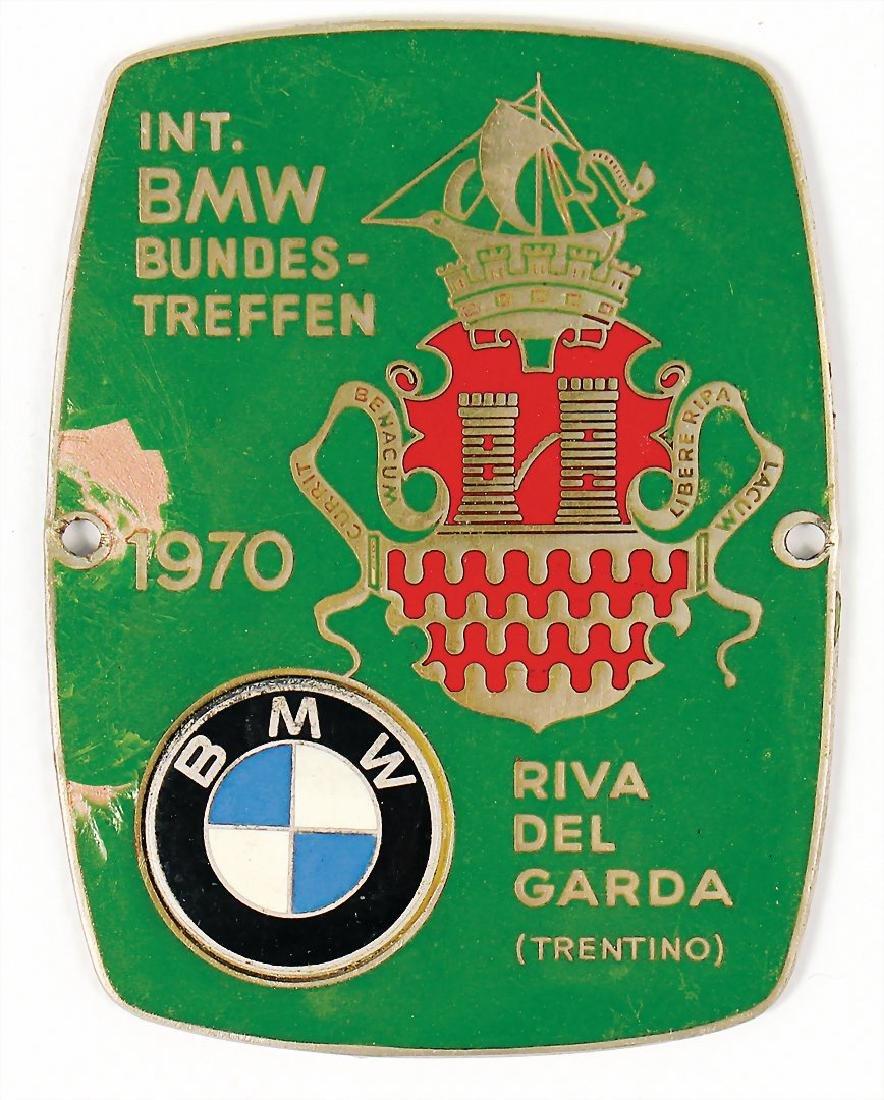 """BMW badge """"Internationales BMW Bundes-Treffen 1970"""""""