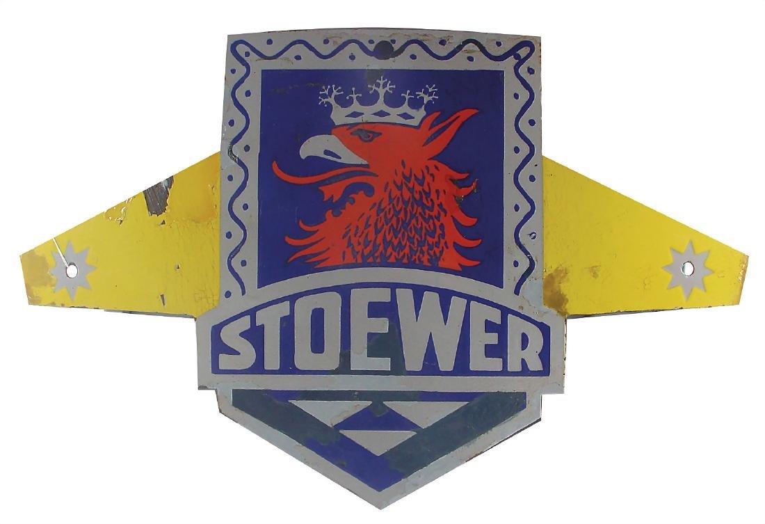 STOEWER enamel sign Stoewer (bicycles/sewing machines),