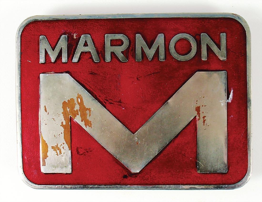 MARMON big enamel badge, radiator badge/badge for the