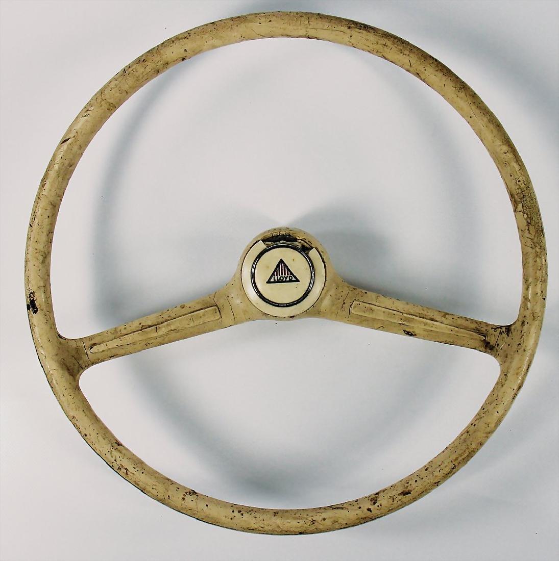 LLOYD white 2-steering wheel spokes for type Lloyd,