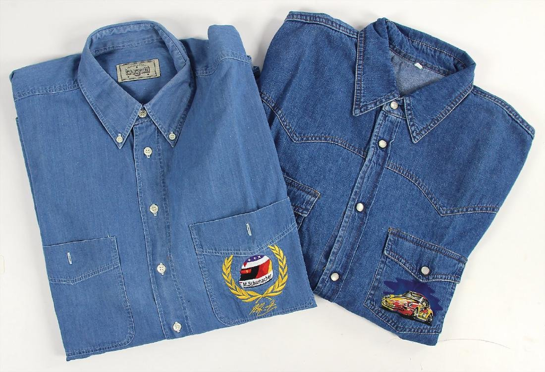mixed lot of 2 jeans shirts, among it jeans shirt by