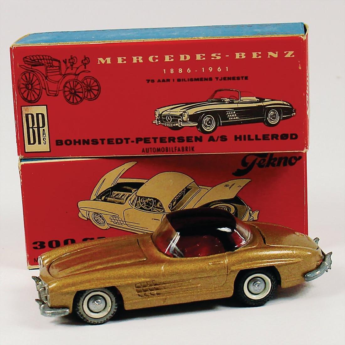 TEKNO mixed lot of 2 model cars, Mercedes-Benz 300 SL,