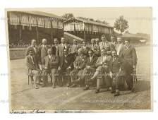 original BW photo Monza 1927 group shot on it among