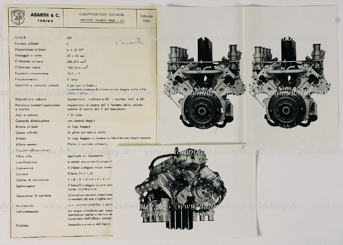 ABARTH 1966 flyer technical data Abarth engine 2000-8V