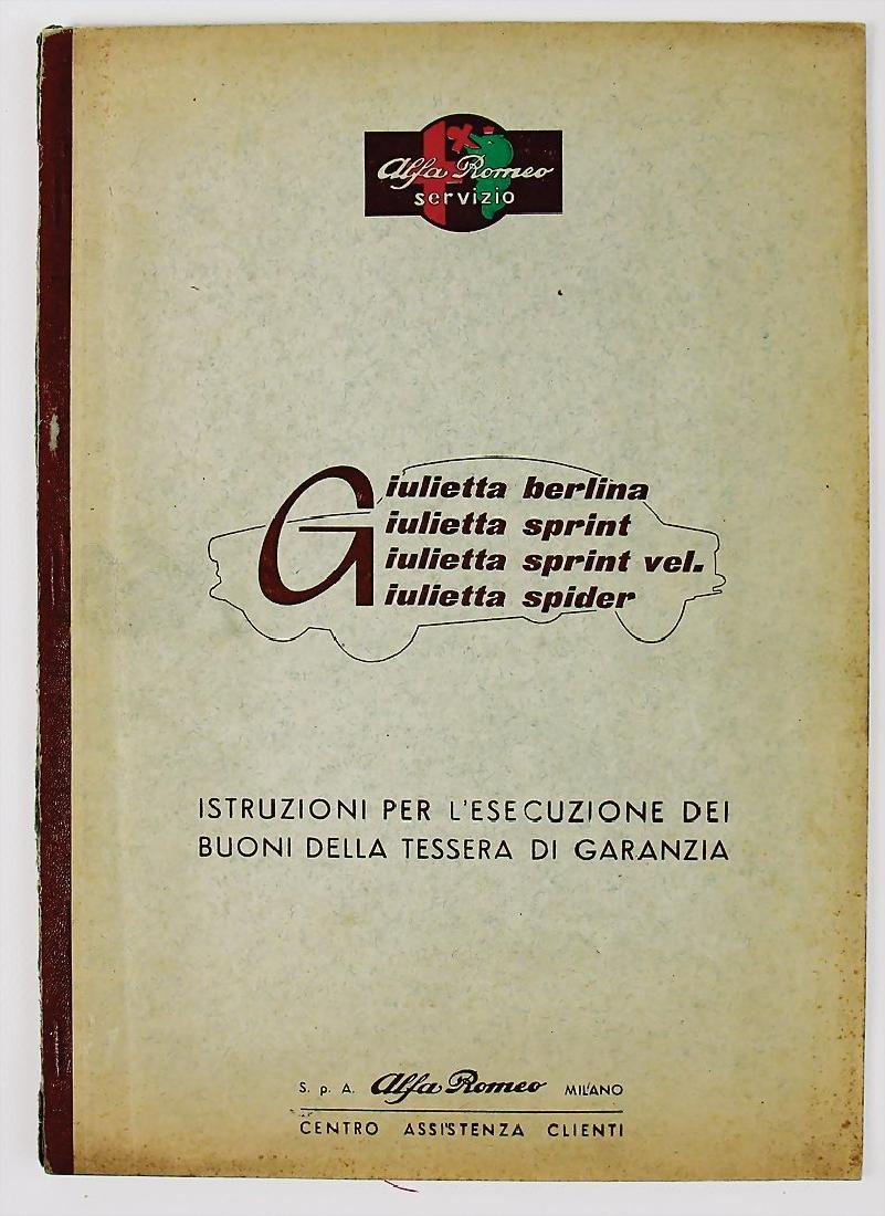 ALFA ROMEO care instruction for Alfa Romeo Giulietta