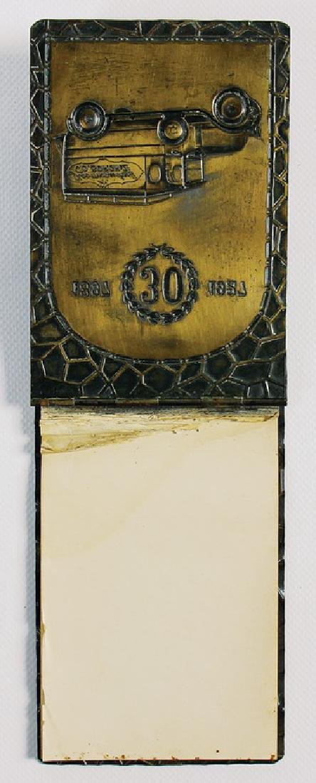 memo pad holder made of brass from 1927, with stamped - 2