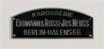 "ERDMANN & ROSSI original Karosserie emblem ""Karosserie"