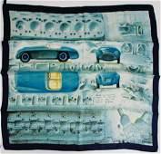 """FERRARI silk scarf Ferrari """"Carozzeria Touring"""