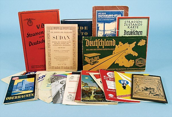 5: mixed lot 15 pieces, the greater part are road maps,
