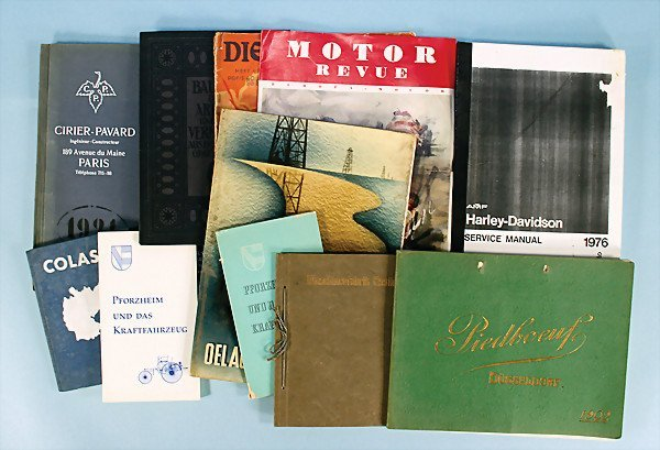 8: mixed lot of 10-parts, different catalogs and brochu