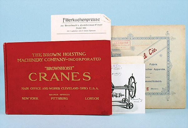 """10: mixed lot of catalogs and documents, No. 1 """"The bro"""