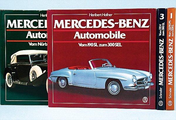 12: mixed lot 4 books, No. 1 Mercedes-Benz automobiles,