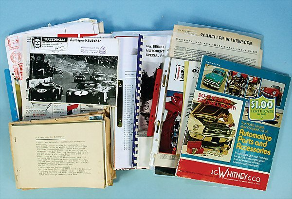 13: extensive mixed lot of car tuning catalogs, by c. 1