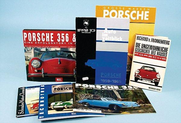 14: mixed lot of 7 books, about Porsche: No. 1 book: Ri