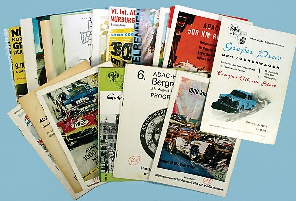 """18: mixed lot of programmes, 23 pieces, among them """"ADA"""