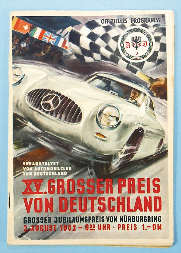 20: official programme XV. Grand Prix of  Germany, Gran