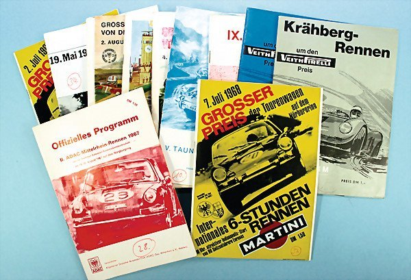 21: mixed lot of programmes, 14-parts, among them 2nd A