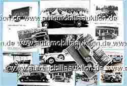 952: HORCH, mixed lot 11-parts, press photos, original