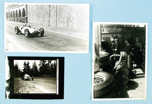 1502: MERCEDES BENZ, 3 press photos, No. 1 Grand Prix o