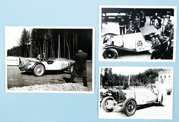 1504: MERCEDES BENZ/SSK, 3x print, No. 1 Hans Stuck, 19