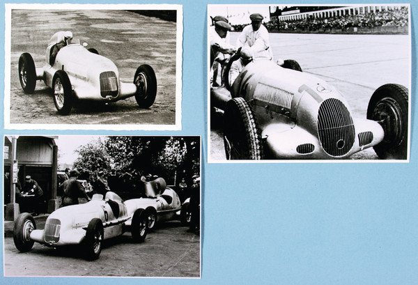 1513: MERCEDES BENZ, 3 prints, No. 1 Avus racing 1935,