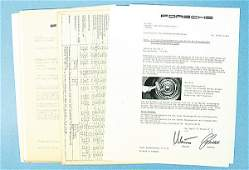 1834: PORSCHE, mixed lot of circular letters of the cus